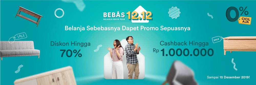 Bebas 12.12 Up To 70 Percent OFF!
