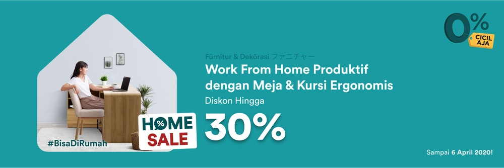 Work From Home Dengan Meja Kursi Ergonomis