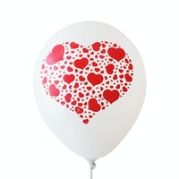 Adalima Balloon Balon Latex Hearts White QQ