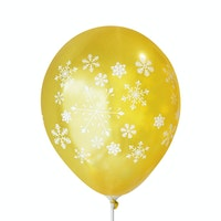 Adalima Balloon Balon Latex Snow Flakes Gold QQ