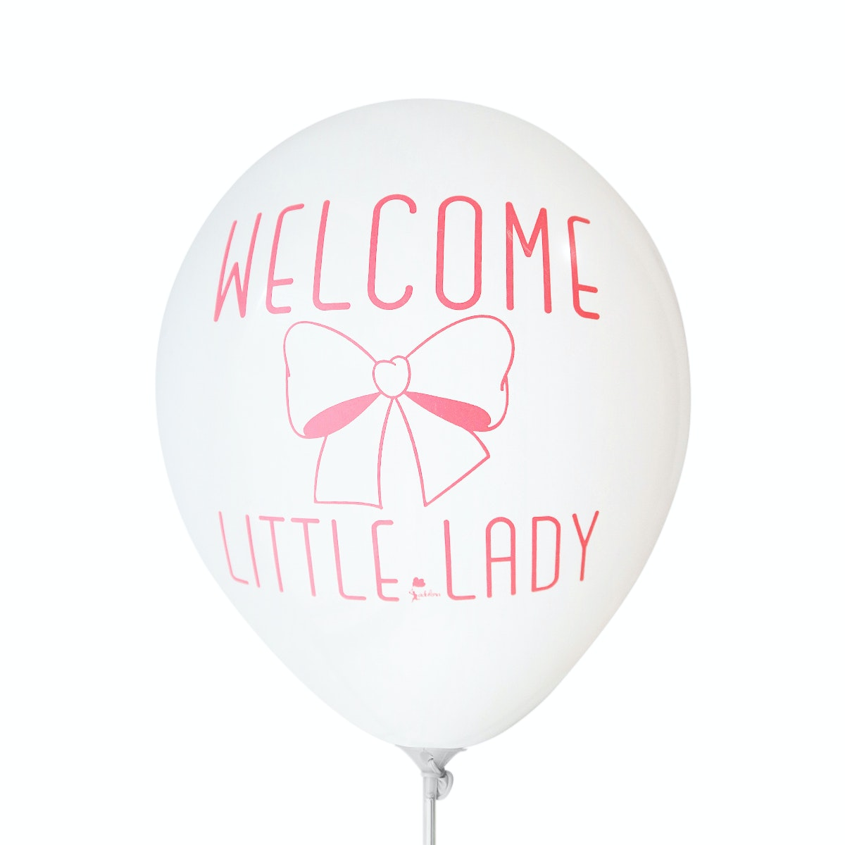 Adalima Balloon Balon Latex Welcome Little Lady White QQ