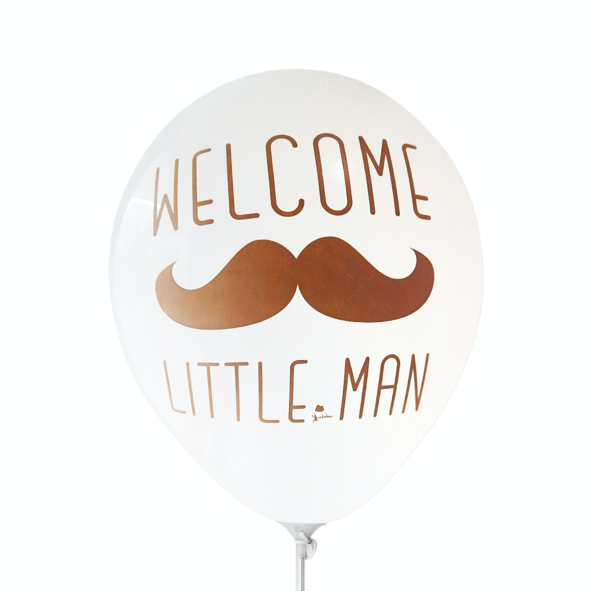 Adalima Balloon Balon Latex Welcome Little Man White QQ