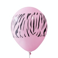 Adalima Balloon Balon Latex Zebra Hot Pink QQ