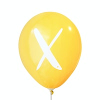 Adalima Balloon Balon Latex Alphabet Golden Yellow Qq