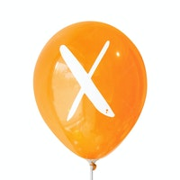 Adalima Balloon Balon Latex Alphabet Orange Qq