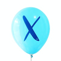 Adalima Balloon Balon Latex Alphabet Pastel Blue Qq