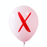 Adalima Balloon Balon Latex Alphabet Pink Qq