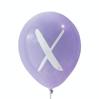 Adalima Balloon Balon Latex Alphabet Purple ( B ) Qq