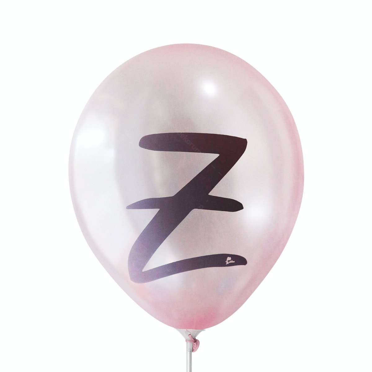Adalima Balloon Balon Latex Alphabet Metallic Pink Qq