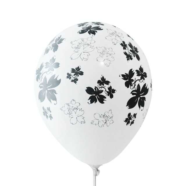 Adalima Balloon Balon Latex Flowers White Black QQ