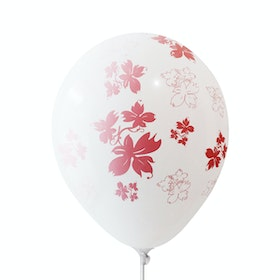 Adalima Balloon Balon Latex Flowers White Pink QQ