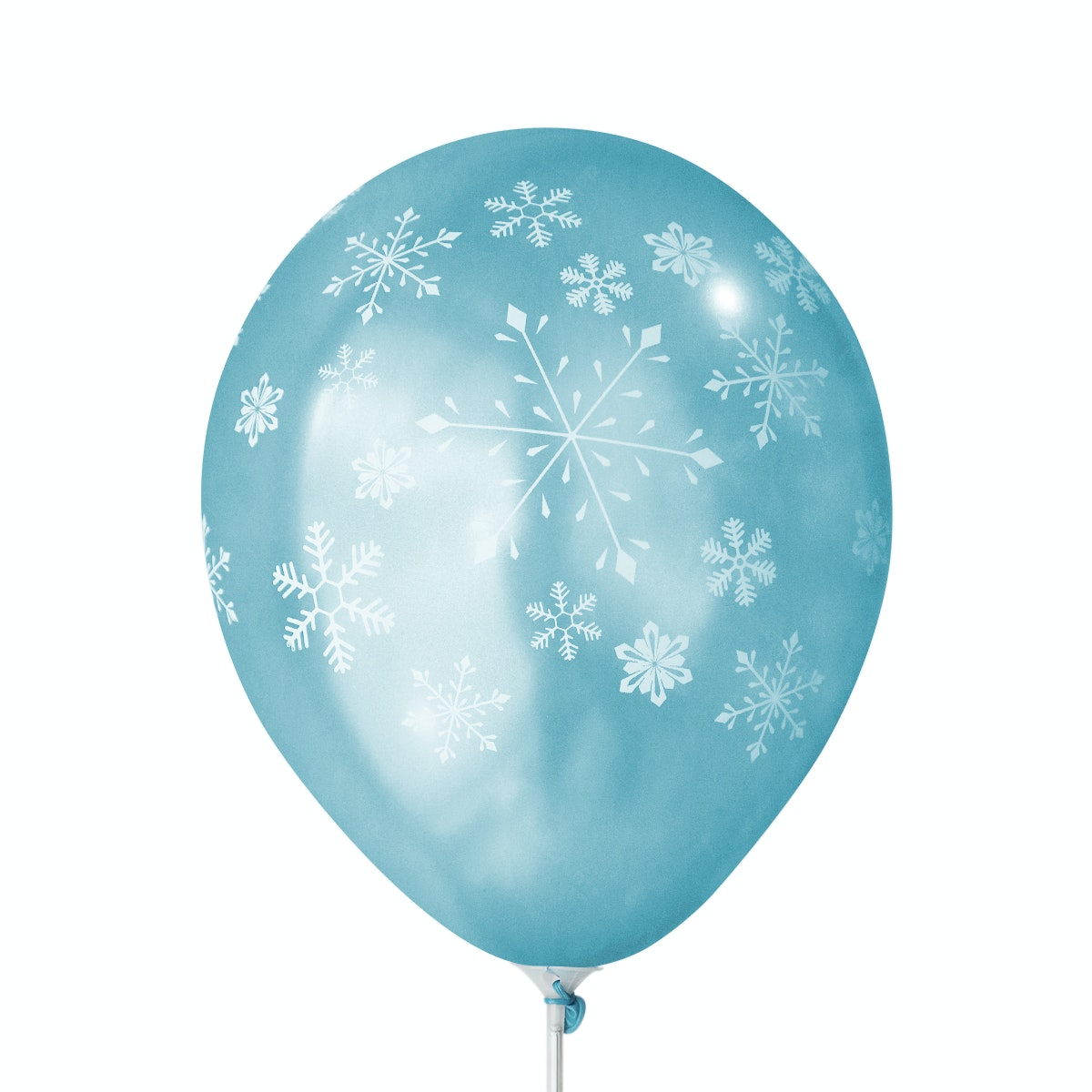 Adalima Balloon Balon Latex Snow Flakes Light Blue QQ