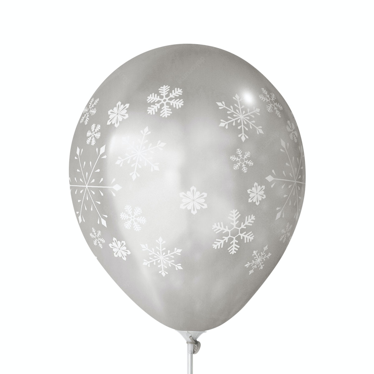 Adalima Balloon Balon Latex Snow Flakes Silver QQ