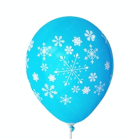 Adalima Balloon Balon Latex Snow Flakes Dark Blue QQ