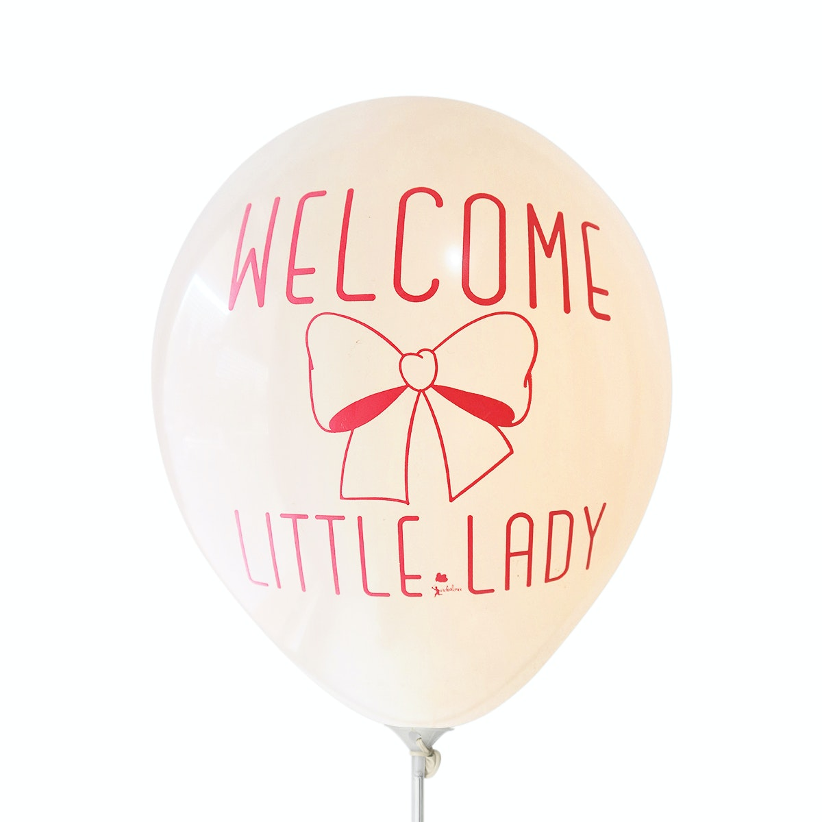 Adalima Balloon Balon Latex Welcome Little Lady Blush QQ