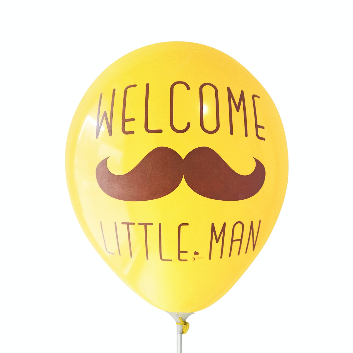 Adalima Balloon Balon Latex Welcome Little Man Golden Yellow QQ