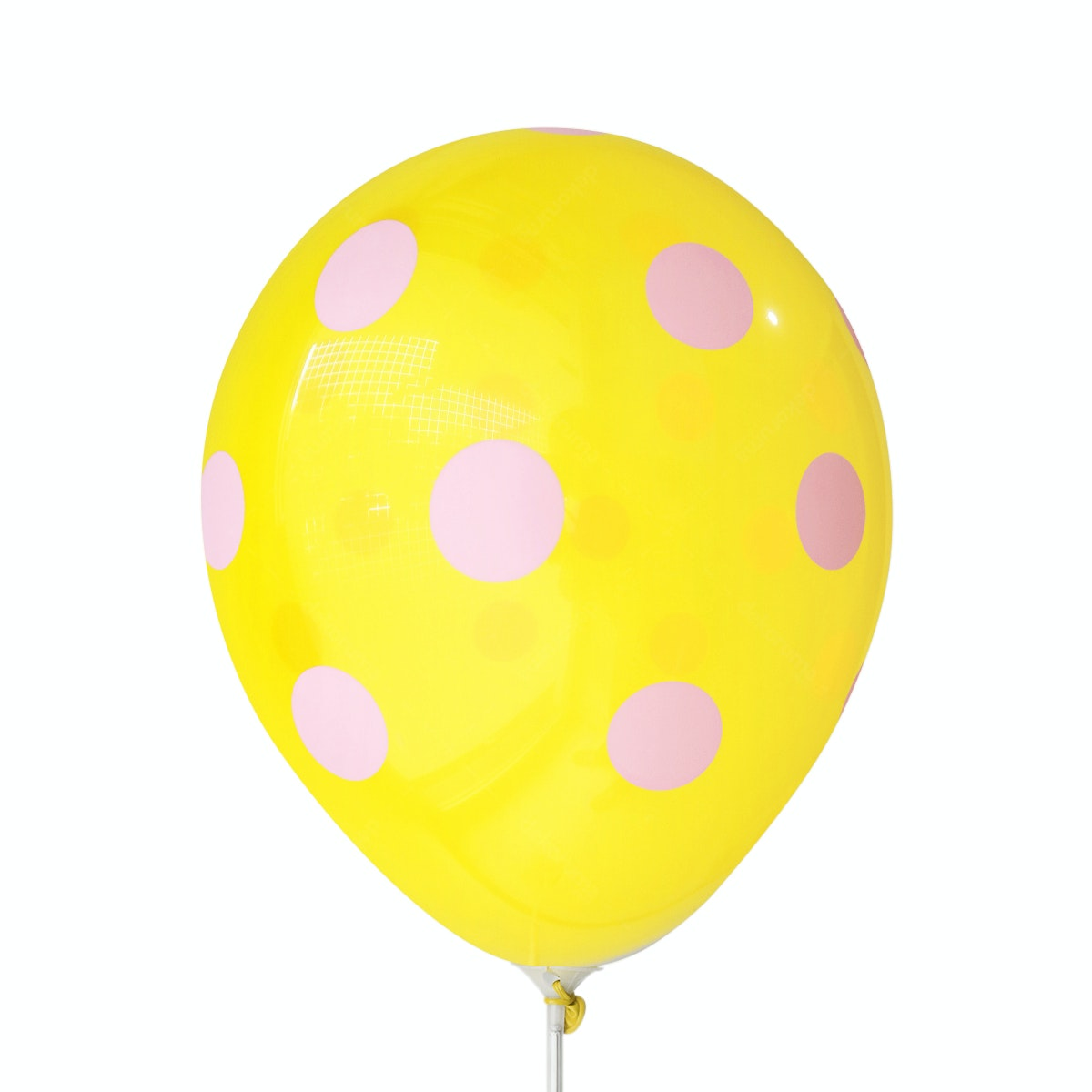 Adalima Balloon Balloon Polkadot Lemon Yellow Pink QQ