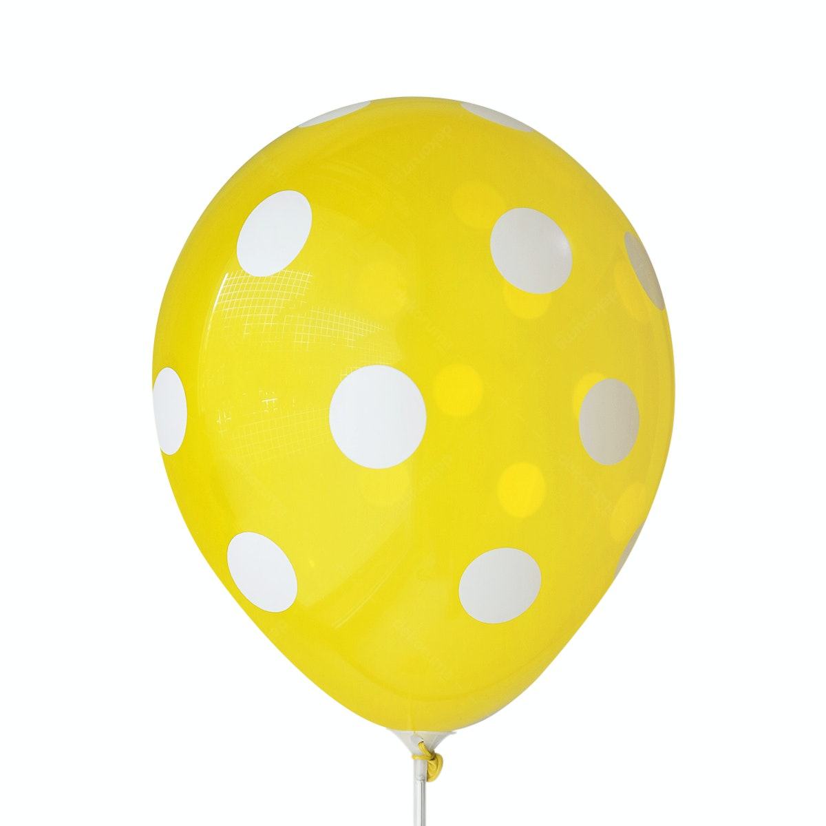 Adalima Balloon Balloon Polkadot Lemon Yellow QQ