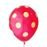 Adalima Balloon Balloon Polkadot Red Lemon Yellow QQ