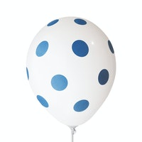 Adalima Balloon Balloon Polkadot White Royal Blue QQ