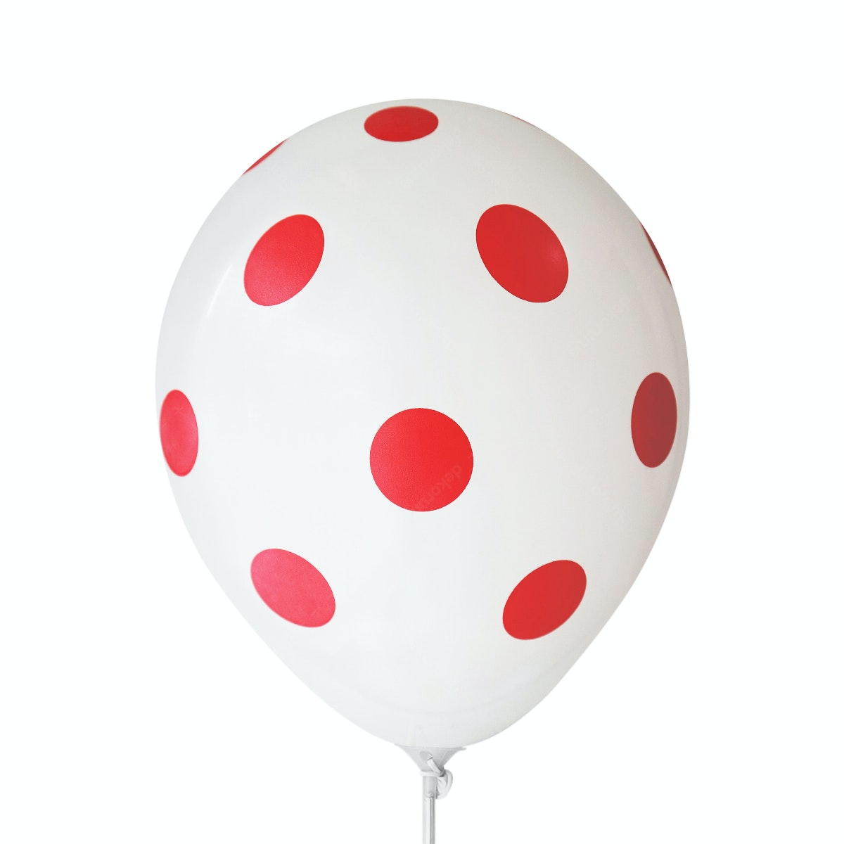 Adalima Balloon Balloon Polkadot White Red QQ