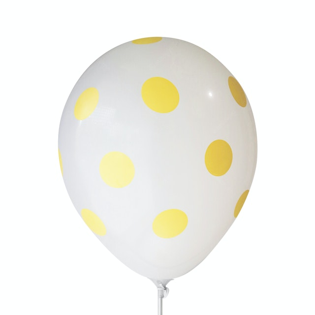 Adalima Balloon Balloon Polkadot White Lemon Yellow QQ