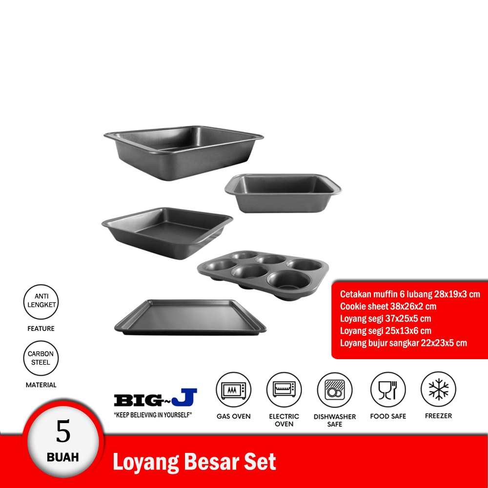 Big J Bakeware Set - Loyang Set - 5 buah