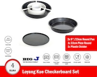 Big J Loyang Kue Checkerboard Set isi 4