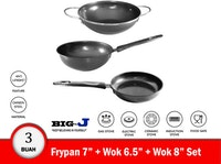 Big J Cookware Set - Alat Masak Set - 3 buah