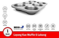 Big J Loyang Muffin 6 Lubang 28x19x3 cm