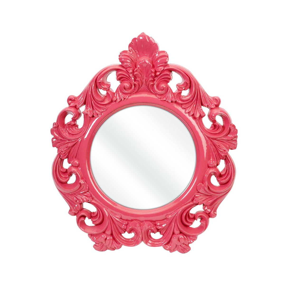 Imax Home Finely Pink Baroque Wall Mirror