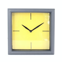 Imax Home Graphite Metal Clock