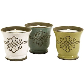 California Home Louise Ceramic Candles - Set Of 3