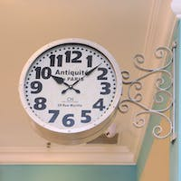California Home Landy Double Sides Wall Clock
