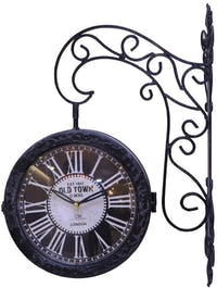 California Home Lariast Double Sides Wall Clock