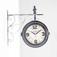 California Home Leslie Double Sides Wall Clock