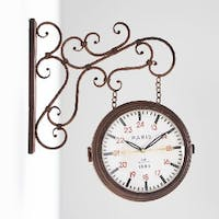 California Home Lauren Double Sides Wall Clock