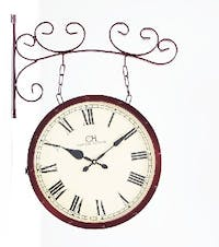 California Home Lisette Double Sides Wall Clock