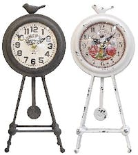 California Home Twinsburg Table Clock Set Of 2
