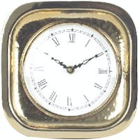 California Home Essentials Celebrations Gold Clock