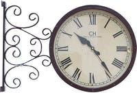 California Home Lena Double Sides Wall Clock