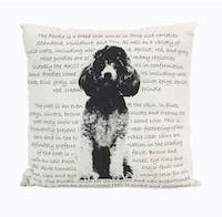 California Home Poodle Heritage Pillow