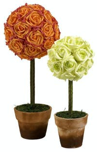 California Home Aidelle Rose Topiaries - Set of 2