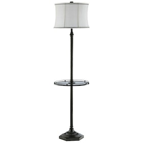 California Home Metal Floor Lamp with Glass Table