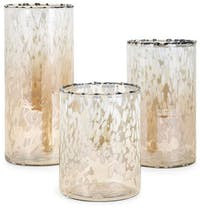 California Home Ty Luxe Glass Hurricane Set Of 3