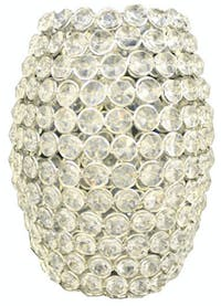 California Home Elize Ellipse Shade with Glass Crystal