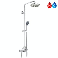 AER Mixer Shower Set Complete Kran Panas/Dingin MS-2