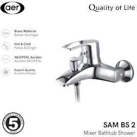 AER Kran Bathtub Shower Panas Dingin-Keran Air Kuningan/ Faucet SAM BS2 (21 x 17 x 12 cm)