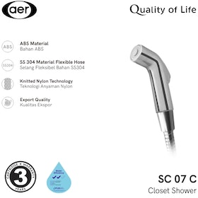 AER Shower Kloset / Closet Shower / Toilet Bidet SC 07 C