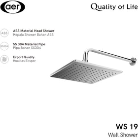 AER Shower Tembok / Wall Shower WS-19 Shower Tembok / Wall Shower WS-19